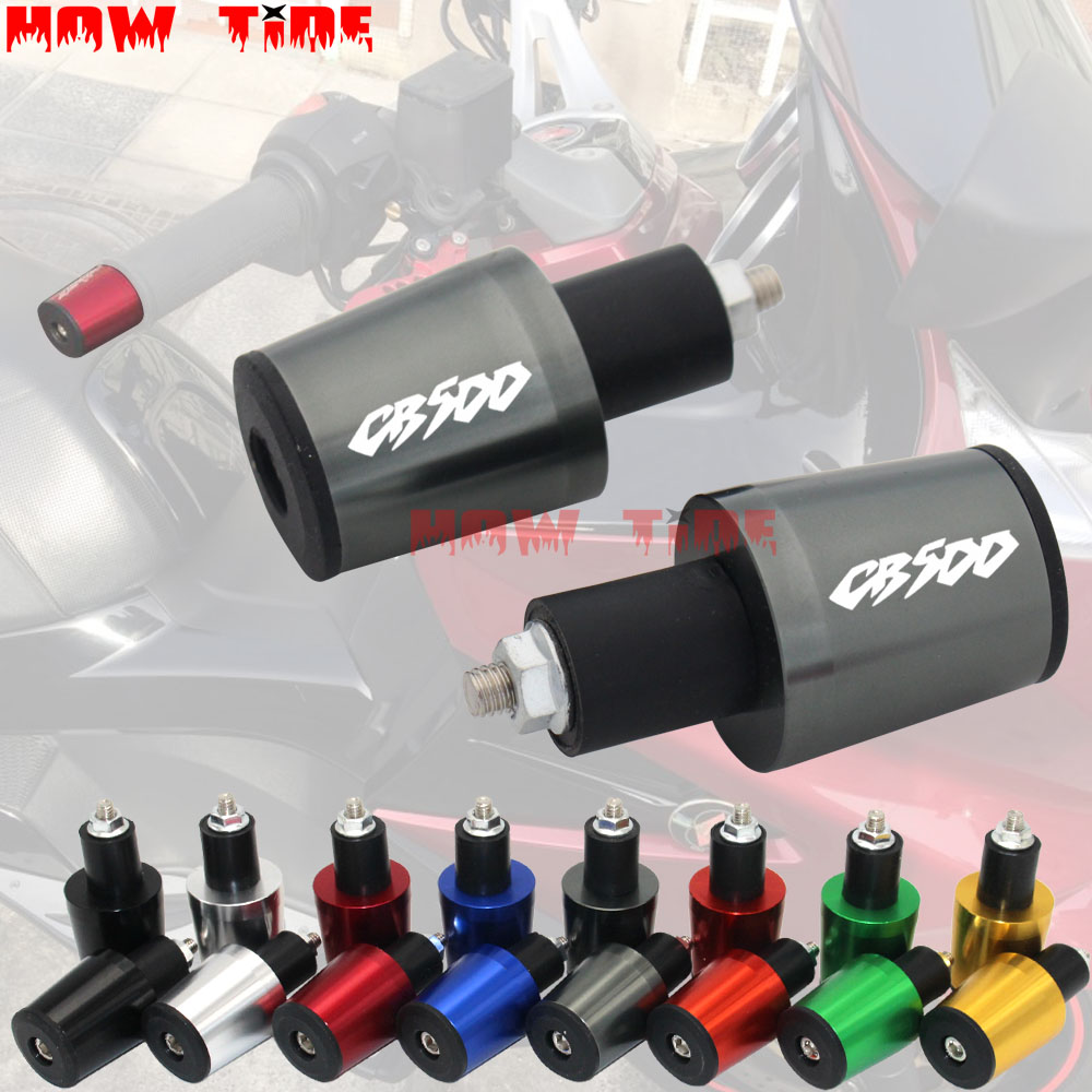 Motorcycle Accessories <font><b>7</b></font>/8'' 22MM Handlebar Grips Handle Bar Cap End Plugs For Honda CB500 CB <font><b>500</b></font> cb500 cb <font><b>500</b></font> image