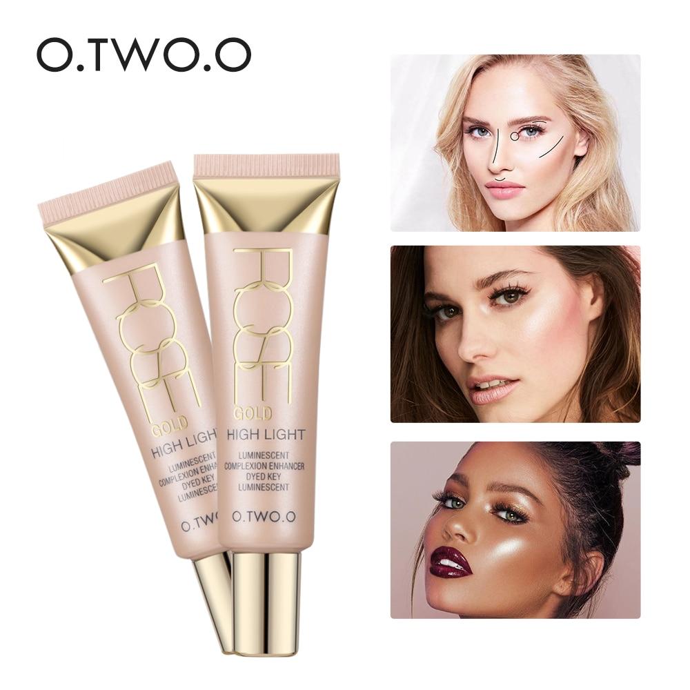 O.TWO.O Face Illuminator Makeup Vätska Highlighter Countour Glöd Shimmer Glänsande Bronzer Långvarig Brighten Face Highlighter