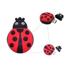 Pendrive cartoon Ladybug usb stick pen drive 4GB 8GB 16GB 32GB 64GB memory stick u disk Personalized gift usb flash drive cle фартук natty бордовый