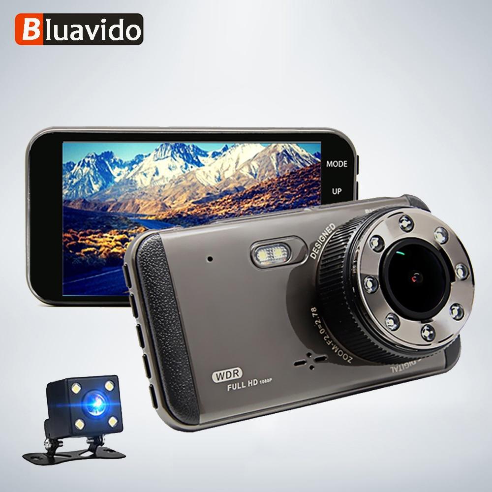 Bluavido 4 Inch Car Dash Camera ADAS FHD 1080P WDR Night vision DVRs with rear view