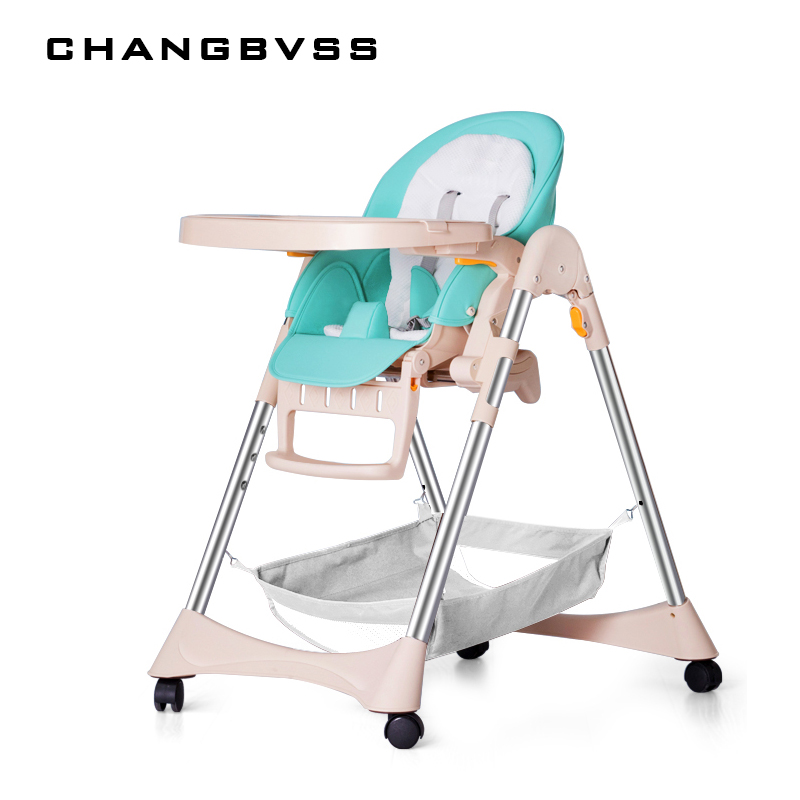 Multifunctional Baby Feeding Table Chair Seat Portable Folding Can Sit Lying Stable Safety Support Baby High Chair Dinner Lunch i baby baby booster seat portable feeding high chair infant adjustable folding seat safety belt harness seating system