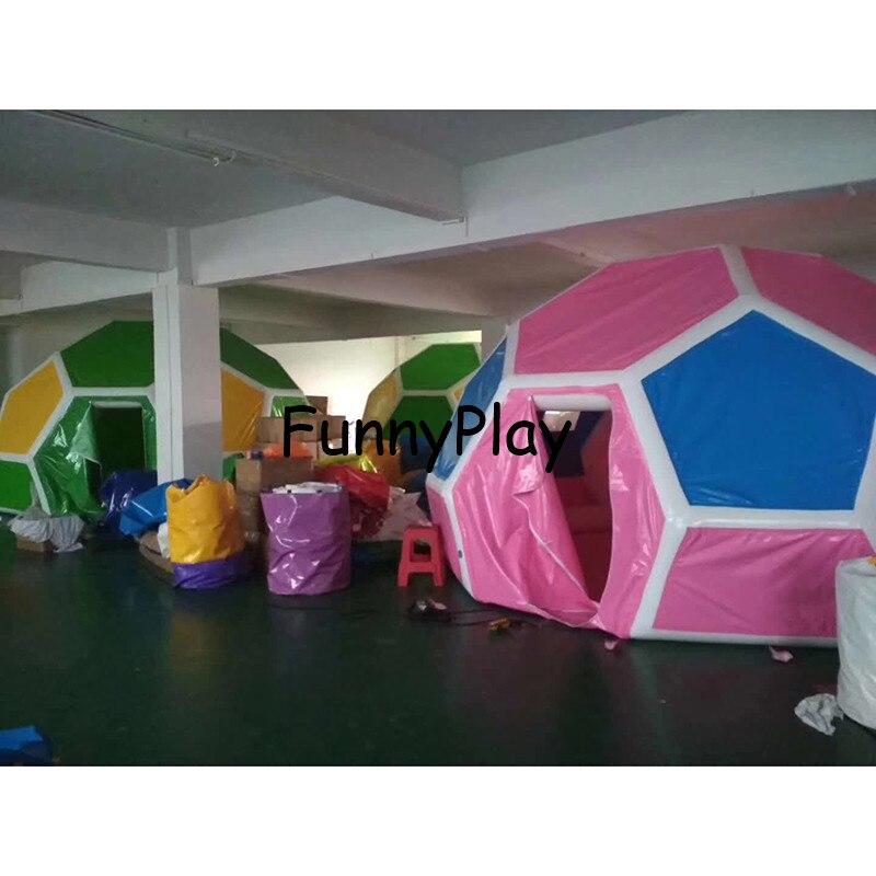 Partie gonflable camping tente pelouse bulle tente football football forme net géant clair dôme vacances jardin maison