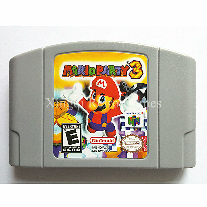 Nintendo N64 Game Mario Party 3 Video Game Cartridge Console Card English Language US Version