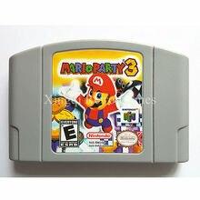 Nintendo N64 Игры Mario Party 3 Видеоигры Картридж Консоли Карты Английский Язык Версия США