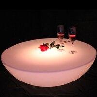 Красочные уличный барный стол комплект светодиодная пластиковая мебель батареи круглый стол SK LF17 (D60 * H20cm) Бесплатная доставка