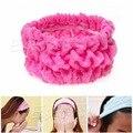 New Soft Elastic Headband Bath Spa Make Up Chuveiro Titular Faixa de Cabelo Headwrap