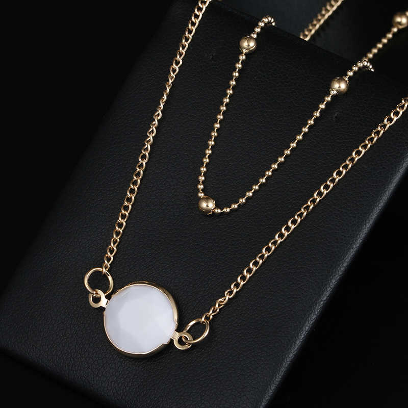2018 New Golden Color Mutilayer Fashion Necklace Women's Double layer Short Necklace Wholesale and Dropshipping Jewelry X58