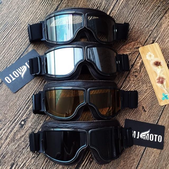 9f8afea55c241 MJMOTO capacete Da Motocicleta Do Vintage óculos de proteção óculos de Moto  para Harley Cruiser Scooter