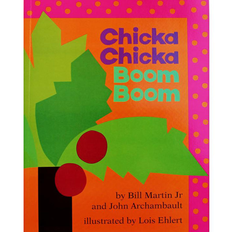 Chicka Chicka Boom Boom By Bill Martin Jr. Educational English Picture Book Learning Card Story Book For Baby Kids Children Gift