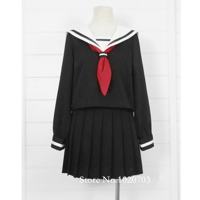Hell Girl Ai Enma Jigoku Shoujo Cosplay School Uniform -3370