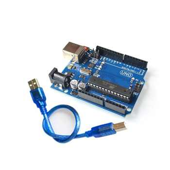 5set/lot UNO R3 for arduino MEGA328P ATMEGA16U2 1PCS UNO R3 + 1PCS cable - SALE ITEM Electronic Components & Supplies