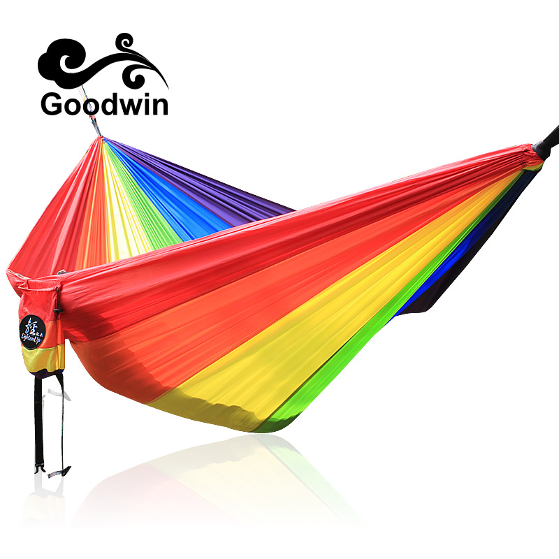 Solid Color Nylon Parachute Hammock Camping Survival garden swing Leisure travel Portable outdoor furnitureSolid Color Nylon Parachute Hammock Camping Survival garden swing Leisure travel Portable outdoor furniture