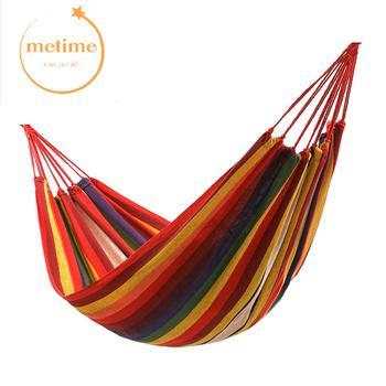 Russianon magazyny na sprzedaż pojedyncze podwójne 200x150cm huśtawki ogrodowe na zewnątrz hamak kempingowy wiszące na fotel lub łóżko przenośne tanie i dobre opinie METIME fashion Meble ogrodowe Dwie osoby MT-HKCV006 Dorosłych stripe