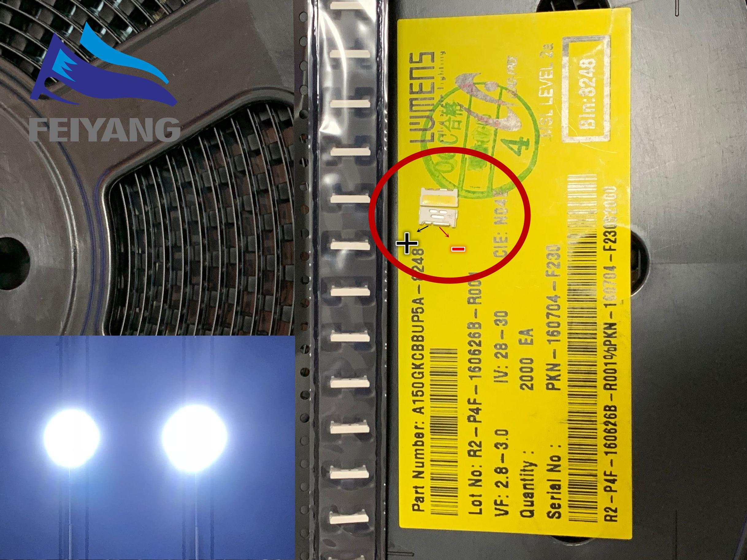 100pcs LUMENS LED Backlight Edge LED Series 0.7W 3V 7032 Cool white For SAMSUNG LED LCD Backlight TV Applicatio A150GKCBBUP5A