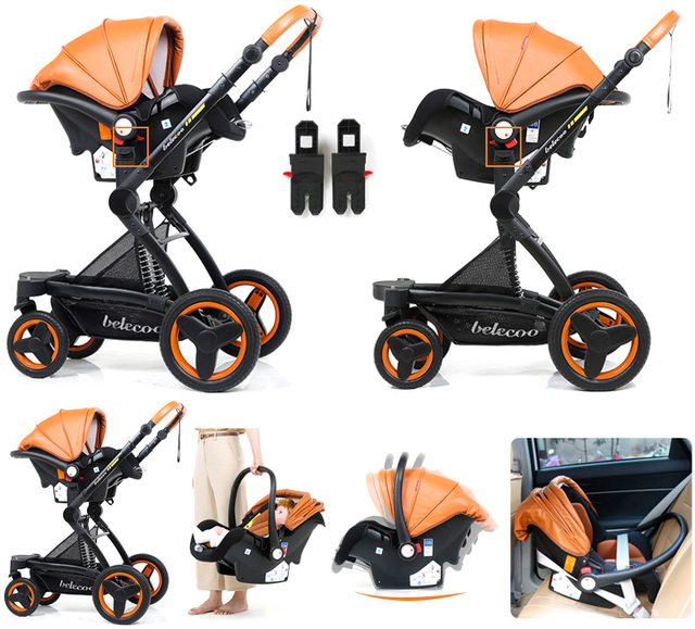 Luxury Baby Stroller 2 in 1
