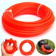 Nylon Strimmer Line Brushcutter Nylon Cord Line Wire String Rope for Lawn Mower Replacement Nylon Trimmer Line 4mm x 5m