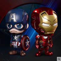 NEW Hot 11cm Avengers Iron Man Captain America An On Board Action Figure Toys Collection Christmas