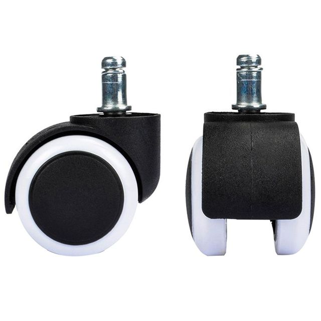 Office Chair Casters Gioteck Rc5 Gaming 4pcs 2inch Mute Replacement Caster Wheel Swivel Rolling Rollers Wheels Home Furniture Hardware
