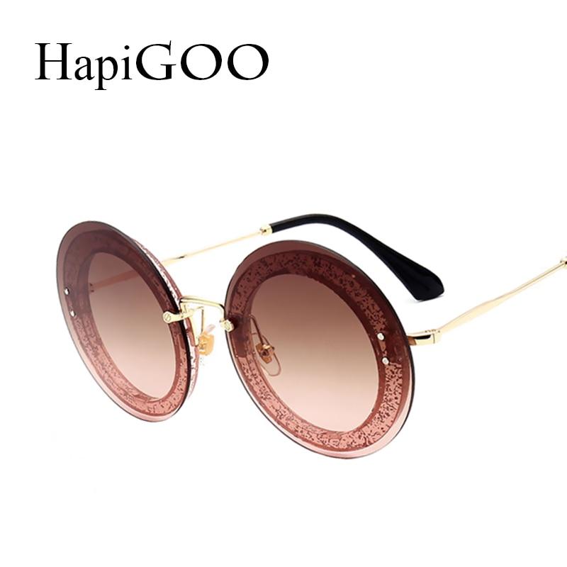 2019 New Women Oversized Rimless Round Sunglasses Classic