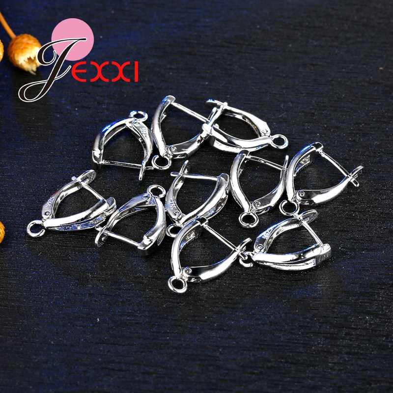 Wholesale 20Pcs/Lot DIY Making Jewelry Earring Findings 925 Sterling Silver Ear Earwires Jewelry Accessory