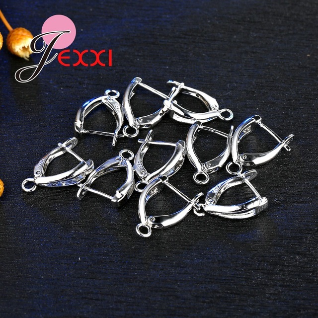 JEXXI Wholesale 20Pcs/Lot DIY Making Jewelry Earring Findings S90 Silver Ear Ear