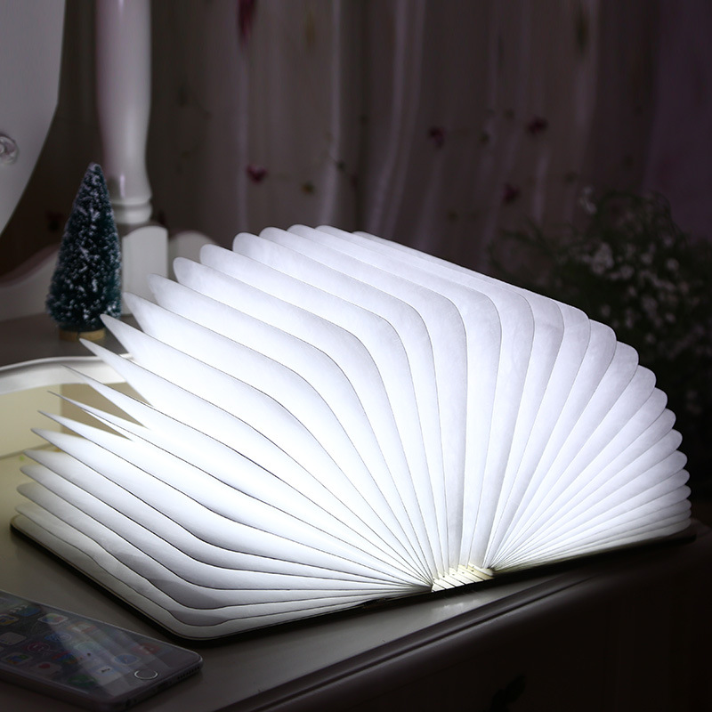 LED Folding Book Light Creative Table Book Light Lamp Home Novelty Decorative USB Rechargeable Lamps Night Llight 216x170x23mm