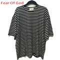 Fear Of God T Shirt Men Hip Hop High Quality 1:1 FOG T-Shirt Justin Bieber Striped Zebra Crossing Tee Fear Of God Tshirt