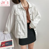 Harajuku Women Denim Jacket Coat Solid Color Square Collar Vintage Winter Outerwear Long Sleeve Casual Army Green Loose Jacket