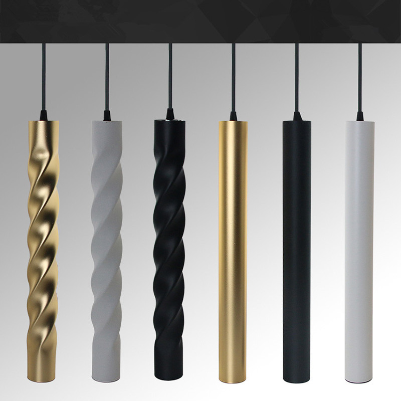 Dimmable LED Modern Pendant Light COB Cylindrical Aluminum&metal Home12w Hang Lamp Dining/living Room Bar Cafe Droplight Fixture