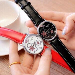 Image 5 - Nowa oferta luksusowej marki zegarka kobiet zegarki zegarek na co dzień mody panie zegar lady zegarek kwarcowy Relogio Feminino kwiat