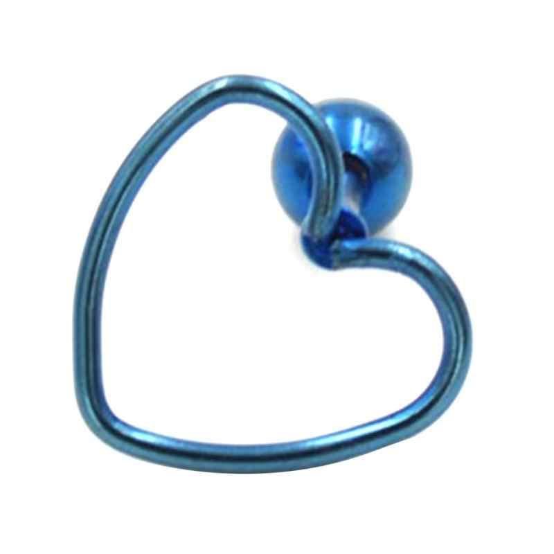 1 قطعة واحدة هيبوالرجينيك الفولاذ المقاوم للصدأ شكل قلب ثقب القرط مربط مجوهرات الأذن العظام مسمار للنساء بالجملة جديد القرط