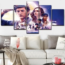 One Set 5 Pieces Canvas Printed Movie Ready Player Character Poster Modern Artwork Home Decorative Wall Picture Framework