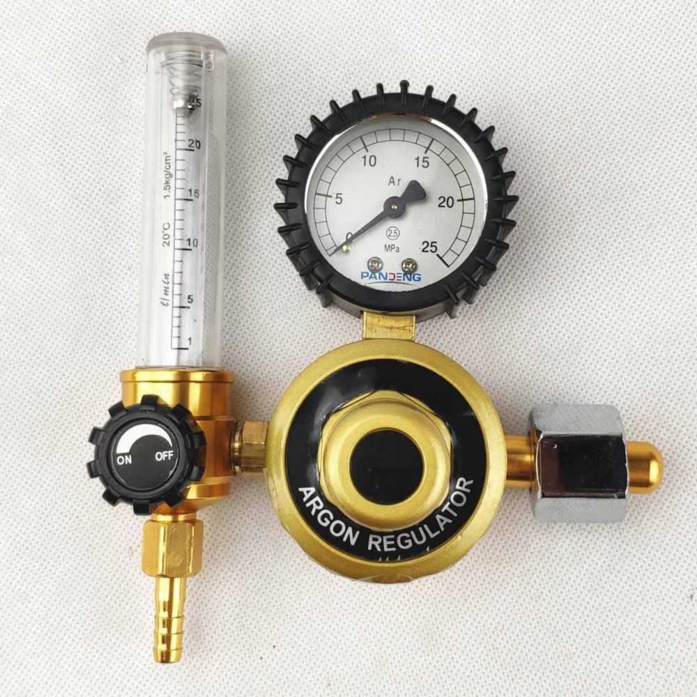 CO2 Argon Regulator POWERTOOL Zinc Alloy 0-25 MPa Welding Gas Meter Pressure Gas Mig Tig Flow Meter Fits Argon Nitrogen Helium etc