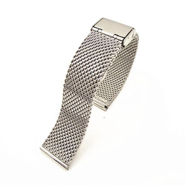 Image 3 - Wholesale High quality 10PCS/lot 18MM ,20MM ,22MM Stainless Steel  Watch band Watch strap Bracelets Strap sliver color WBS001bracelet  amuletbracelet packagingbracelet rondelle