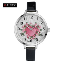 2017 GAIETY Brand Watch Women Fashion Leather Wrist Quartz Watches Women's Dress Bracelet Casual Watch Luxury Ladies Wristwatch