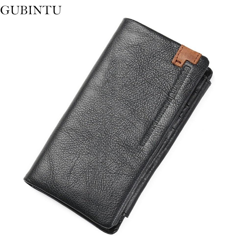 GUBINTU Classic Leather Men Wallet European&American Wallets For Men Purse Rfid Card Holder portfolio cartera-- BID185 PM49