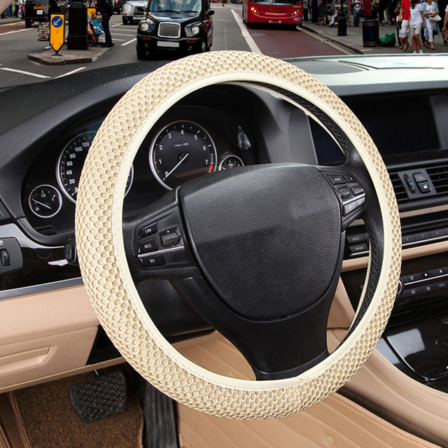 Universal Sandwich Set ice Silk Steering Wheel Cover New Four Seasons Car Handle Set Steering Wheel Cover 38CM Wear-resistant