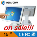 "Desktop with 15""inch Resistive touch screen computers all in one pc AIO PC with 32G SDD 2GB RAM Resolution 1024x768"