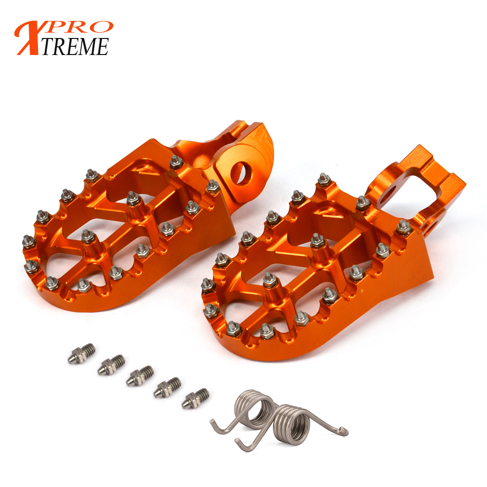 Motorcycle FootRest Footpegs Pedals For KTM 125SX 250-450SX-F 250SX 250-500EXC EXC-F 150-300XC 250XC-F 350-450XC-F 125-300XC-W