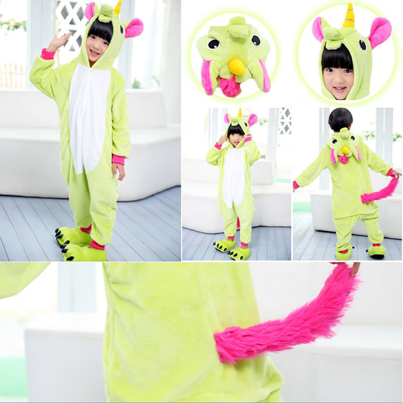 Единорог Kigurumi пижамы Детская Пижама Infatil комплект для мальчиков и  девочек Косплэй пижамы дети животных комбинезон Licorne костюм От 3 до 12  лет ... d6e0edeeba576