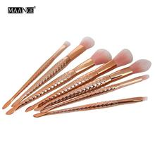 6 PCS/SET Professional Cosmetics Makeup Brushes Synthetic Make Up Brush Set Tools Kit