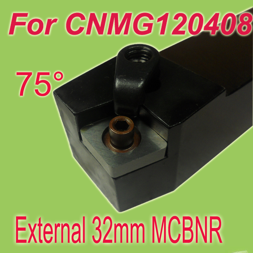 Free Shiping MCBNR 32*32*170 SHK 3/4''  75 Degree External Clamping Locked Turning Tool Holder For CNMG недорого