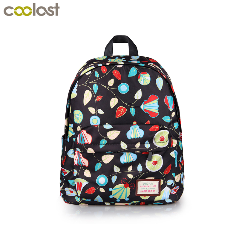 Elegant Flower Printing Backpack Fashion Floral Women Travel Bags Female School Bags for girls teenage book