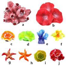 1PC Artificial Aqua Red Resin Sea Marine Coral Fish Tank Aquarium Home Decoration Landscaping Pet Decorative Supplies Toys цена
