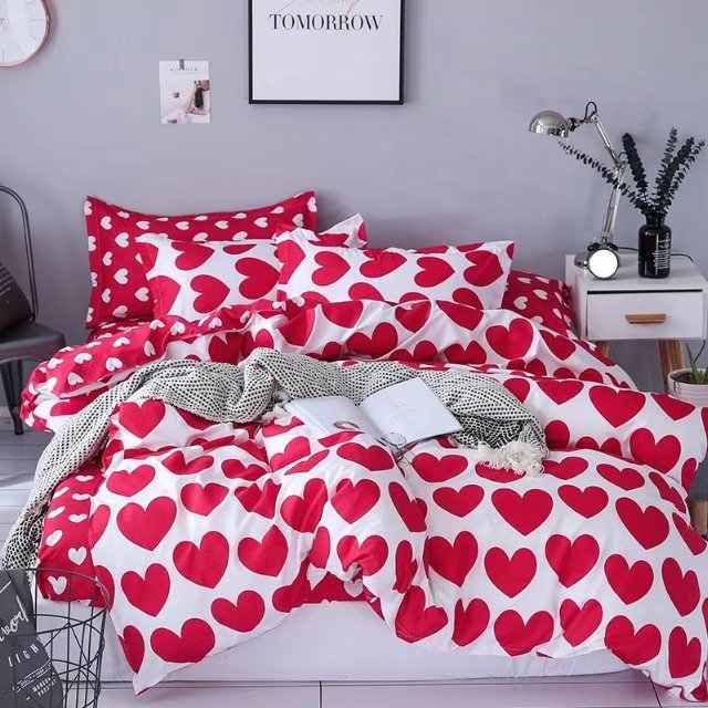 USA Russian Bedding Sets King Queen Size Duvet Cover Set For Europe Bedding Wedding Comfortable Bedclothes heart Home textile
