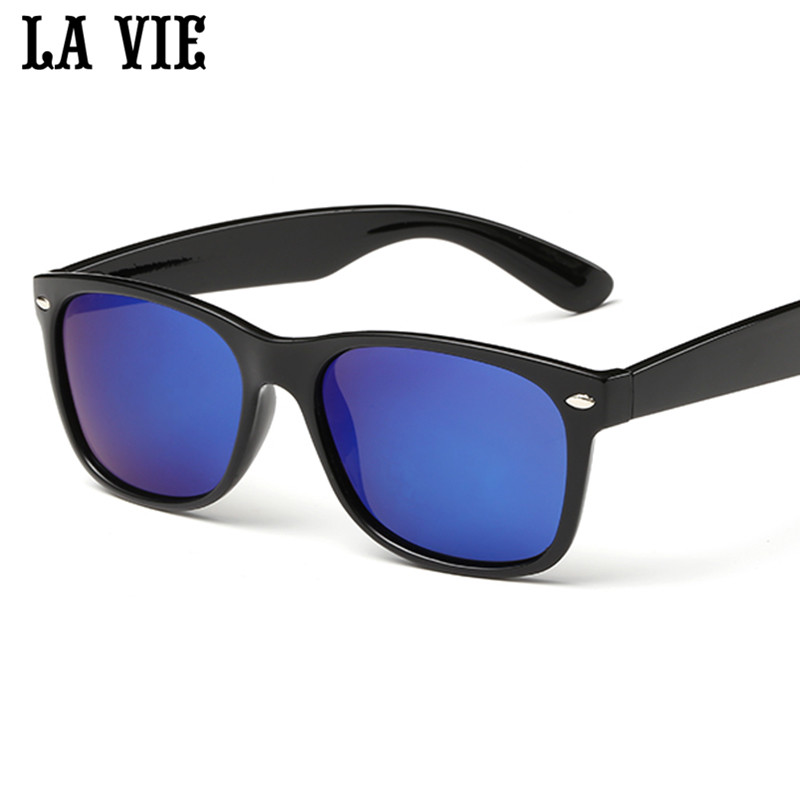 LAVIE 9 Colors Vintage Men Sunglasses Polarized Driving Mirror Coating Black Frame Eyewear for Women Male Sun Glasses UV400