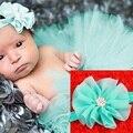 Saia Tutu e Cabeça do bebê Easter Outfit saia de Tule Bebê Ballet Bailarina Tutu Recém-nascidos e Dolly Arco Tudo Em Torno da Saia HB521
