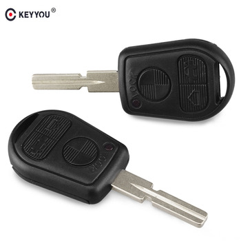 KEYYOU Replacement Remote Key Case Shell Fob 3 Button For BMW 5 7 Series E31 E32 E34 E36 E38 E39 E46 Z3 740i 323i 540i 535i Key image