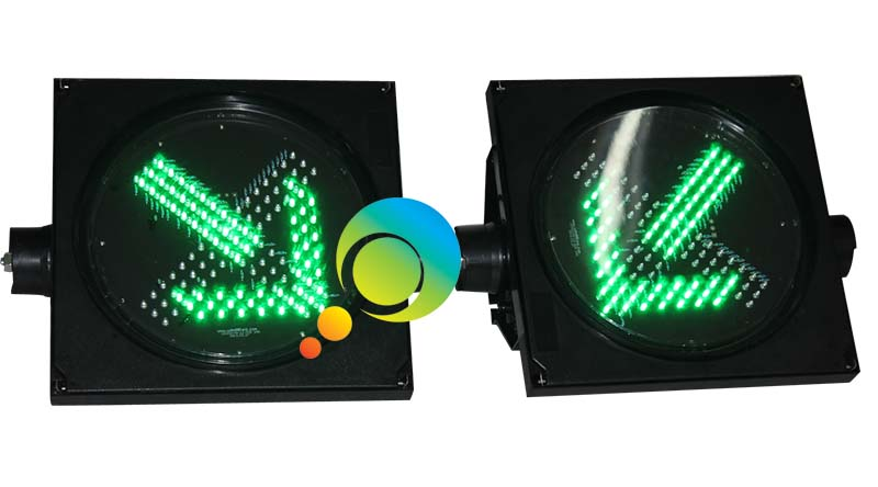 300MM toll station guidance traffic signal lights LED green arrow red cross light - 5