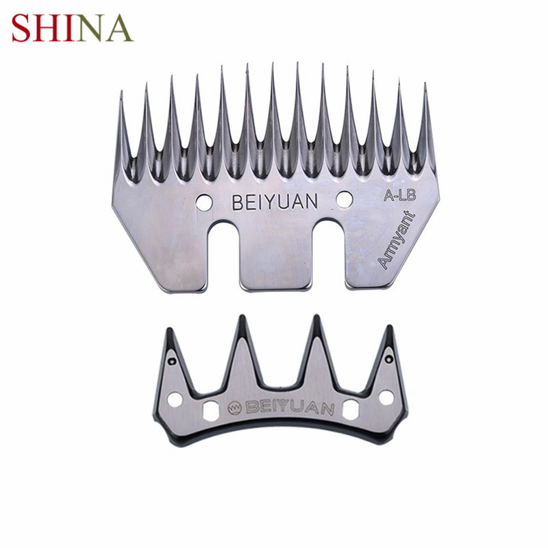SHINA 13T BEIYUAN Strength Straight Blade Stainless Steel For Goat Shearing Sheep Clipper Clipper Scissors Parts Sheep Blade new 680w sheep wool clipper electric sheep goats shearing clipper shears 1 set 13 straight tooth blade comb
